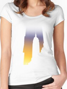 New York Glow Women's Fitted Scoop T-Shirt