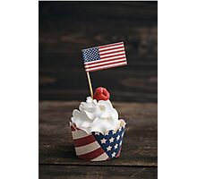 Independence day cupcake Photographic Print