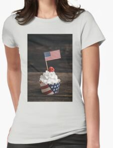 Independence day cupcake Womens Fitted T-Shirt
