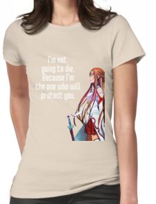 Asuna Couple quote Womens Fitted T-Shirt