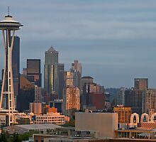 Seattle Skyline at Sunset by davidgnsx1