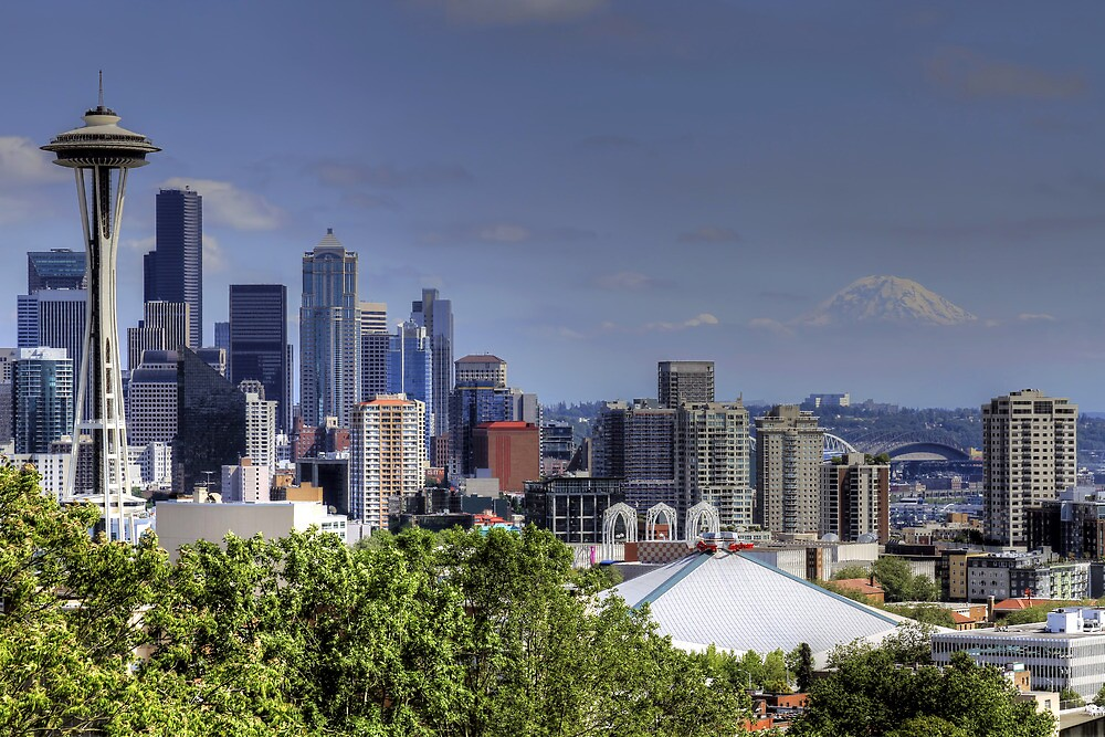 Seattle Skyline by davidgnsx1