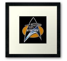 StarTrek Enterprise 1701 Command Signia Chest Framed Print