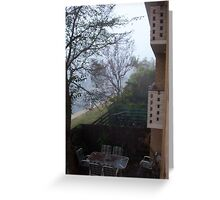 Flats In Fog, Claremont Greeting Card