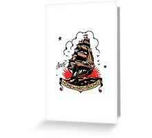 Sailor Jerry Traditional Tattoo - Homeward Bound Greeting Card