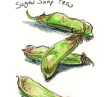 Sugar Snap Peas by Stephanie Smith