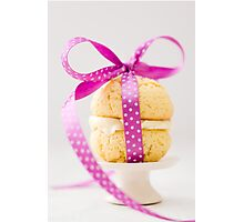 Whoopie Pie In Pink Bow Photographic Print
