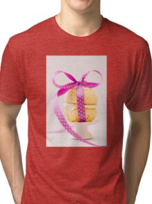 Whoopie Pie In Pink Bow Tri-blend T-Shirt