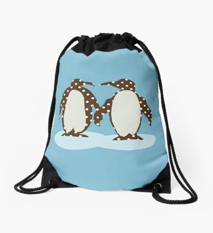 Best Friend Penguins Drawstring Bag