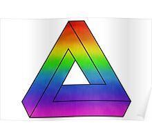 Rainbow Penrose Triangle Art Poster