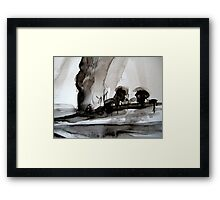 a pass.... to the other side Framed Print