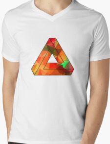 Red Penrose Triangle Polygon Art T-Shirt