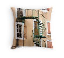 Green spiral Throw Pillow