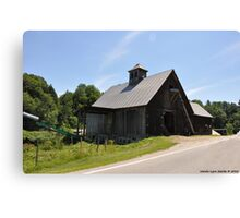 Barn Beside the Road Way Canvas Print