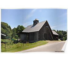 Barn Beside the Road Way Poster