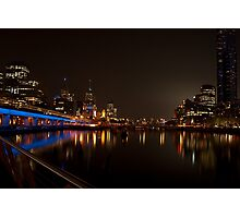 Melbourne by Night  Photographic Print