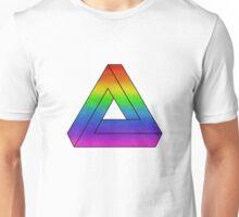Rainbow Penrose Triangle Art Unisex T-Shirt