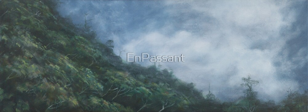 Misty Hillside by EnPassant