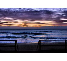 Sunrise North Burleigh Beach  Photographic Print