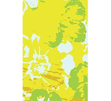 Fresh Yellow Abstract Background Photographic Print