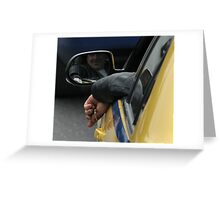 taxi driver Greeting Card