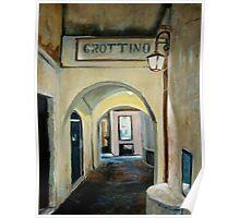 Tonight we go to Grottino's Poster