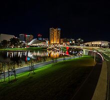 Adelaide Riverbank at Night III by Ray Warren