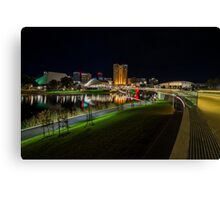 Adelaide Riverbank at Night III Canvas Print