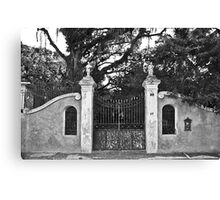 Old Gate in Paqueta Canvas Print