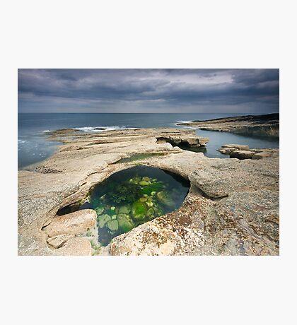 Rock Pool At Howick Bay Photographic Print