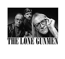 The Lone Gunmen (X-Files) Grunge Style Shirt Photographic Print