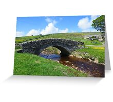 The Yorkshire Dales: The Bridge at Ravenseat Farm Greeting Card