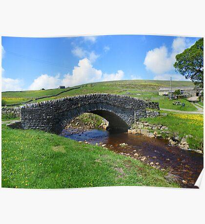 The Yorkshire Dales: The Bridge at Ravenseat Farm Poster