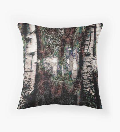 Zauberwald - Die Wächter / Magic Forest - The Guardians Throw Pillow
