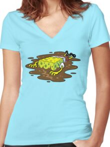 Oily Sponge Women's Fitted V-Neck T-Shirt