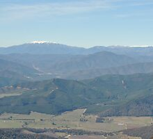 Over The Valley's Of Green To The White Snow Capped Peaks by MissyD