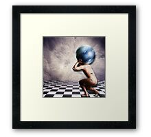 The Weight of the World on his Shoulders Framed Print
