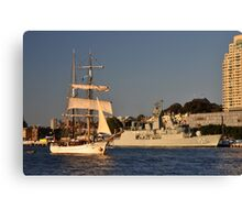 Fleet Review Ships - Old And New, Australia 2013 Canvas Print