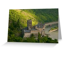 Burg Katz am Rhein Greeting Card