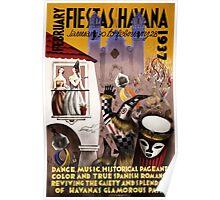 February fiestas in Havana Vintage Poster Poster
