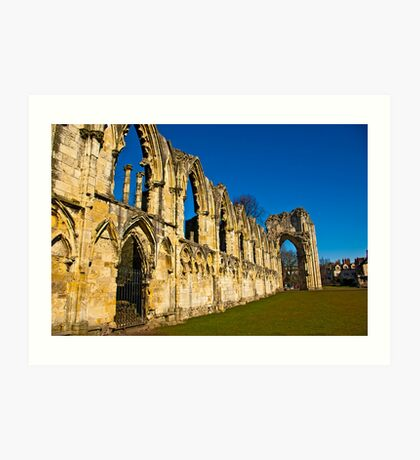 Ruins of St Mary's Abbey  -  York #3 Art Print