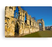 Ruins of St Mary's Abbey  -  York #3 Metal Print