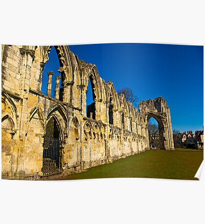 Ruins of St Mary's Abbey  -  York #3 Poster