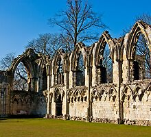 Ruins of St Mary's Abbey  -  York #4 by Trevor Kersley