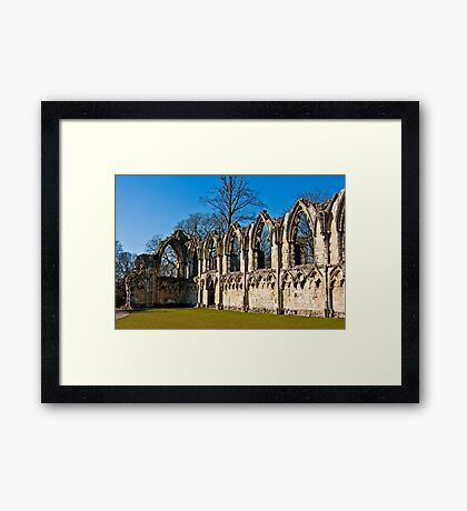 Ruins of St Mary's Abbey  -  York #4 Framed Print