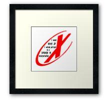I Never Lie Framed Print