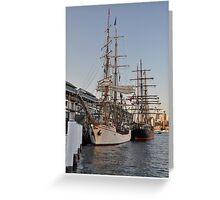Tall Ships @ Darling Harbour, Sydney, Australia 2013. Greeting Card