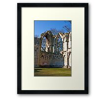 Ruins of St Mary's Abbey  -  York #5 Framed Print