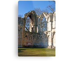 Ruins of St Mary's Abbey  -  York #5 Metal Print