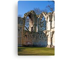 Ruins of St Mary's Abbey  -  York #5 Canvas Print